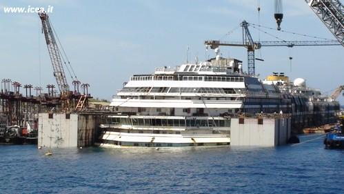 Costa Concordia_pannne assorbenti