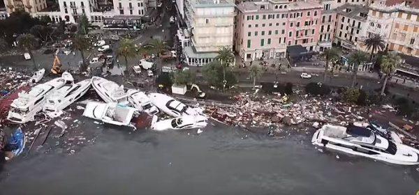 ICEA presente nelle operazioni per l'alluvione al Porto di Rapallo